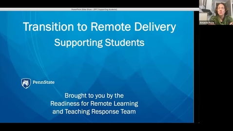 Thumbnail for entry Remote Delivery: Advising and Supporting Students