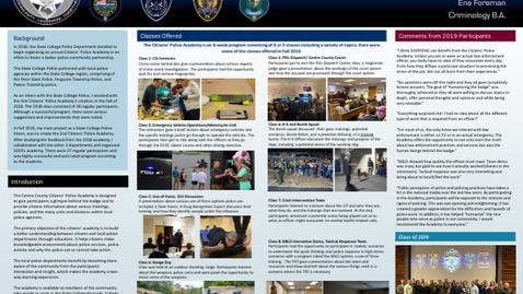 Thumbnail for entry Ena Foreman: CIVCM Capstone Poster