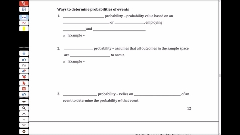 Thumbnail for entry NS2 - 2.6 Ways to Determine Probabilities of Events and Counting Techniques