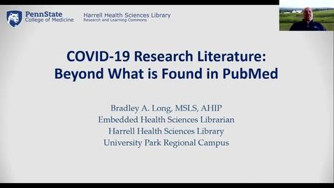 Thumbnail for entry COVID-19 Research Literature: Beyond What is Found in PubMed
