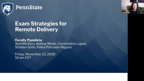 Thumbnail for entry Exam Strategies for Remote Delivery