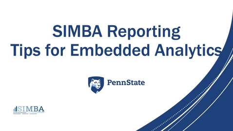 Thumbnail for entry SIMBA Reporting Tips and Best Practices for Embedded Analytics