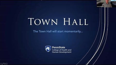 Thumbnail for entry HHD Town Hall - Graduate Students
