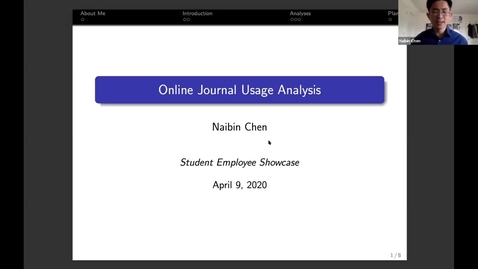 Thumbnail for entry Naibin Chen - Student Employee Showcase Presentation