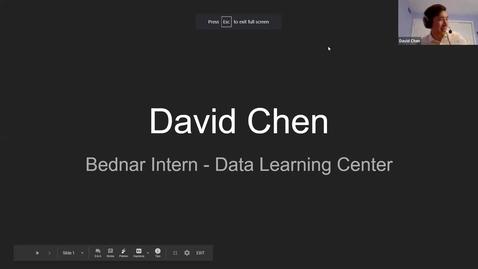 Thumbnail for entry David Chen - Student Employee Showcase Presentation