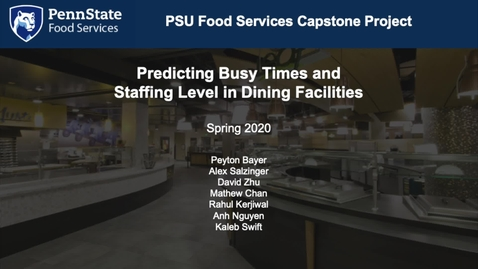 Thumbnail for entry Data Science | PSU Dining Commons Staffing Optimization
