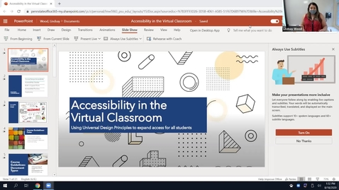Thumbnail for entry Accessibility in the Virtual Classroom