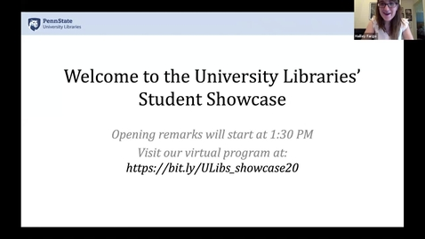 Thumbnail for entry University Libraries' Student Employee Showcase Spring 2020 -- Introduction & Lily Murray