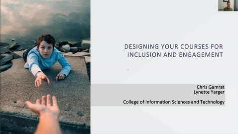 Thumbnail for entry Designing your Courses for Inclusion and Engagement