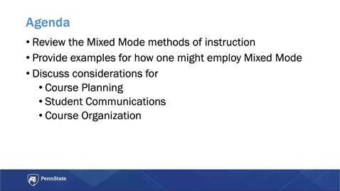 Thumbnail for entry Planning for Mixed Mode Instruction: Keep Teaching Webinar Series