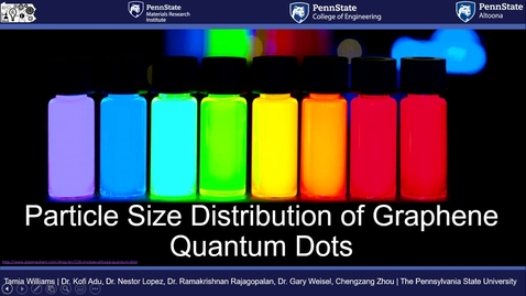 Thumbnail for entry Particle Size Distribution of Graphene Quantum Dots