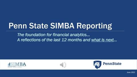 Thumbnail for entry SIMBA Reporting Roadmap - June 2021