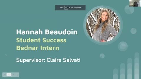 Thumbnail for entry Hannah Beaudoin -- Student Employee Showcase 2021