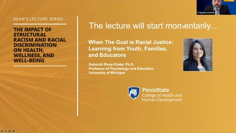 Thumbnail for entry When The Goal is Racial Justice: Learning from Youth, Families, and Educators