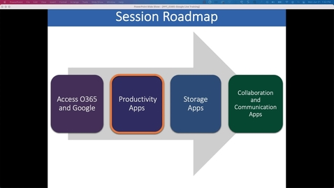 Thumbnail for entry Productivity Applications: Working Collaboratively with Office 365 and Google Workspace at Penn State