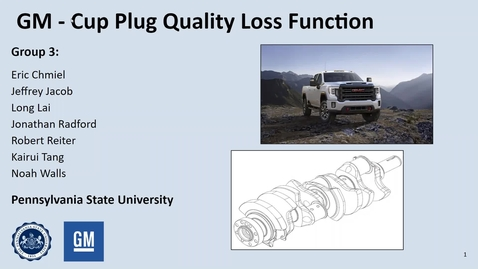 Thumbnail for entry GM Cup Plug Quality Loss Function