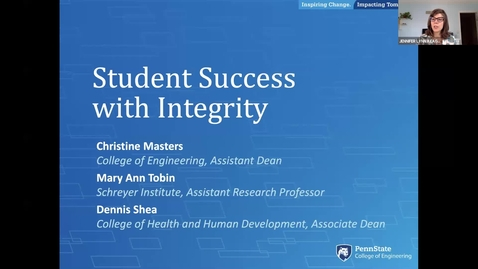 Thumbnail for entry Student Sucess with Integrity: Keep Teaching Webinar Series