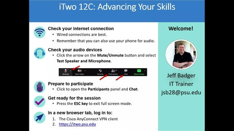 Thumbnail for entry iTwo 12C: Advancing Your Skills - January 6th 2021, 4:12:10 pm