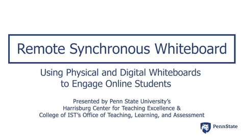Thumbnail for entry Remote Synchronous Whiteboard