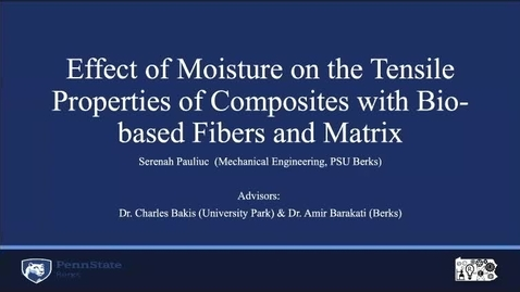 Thumbnail for entry Effect of Moisture on the Tensile Properties of Composites with Bio-based Fibers and Matrix