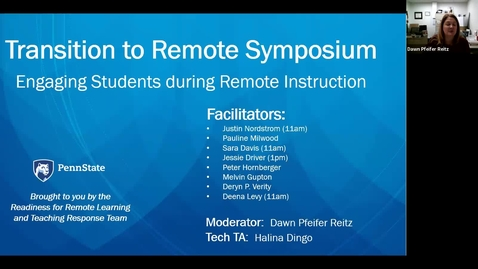 Thumbnail for entry Engaging Students During Remote Instruction