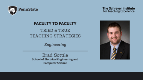 Thumbnail for entry Faculty to Faculty: Tried & True Teaching Strategies [Electrical Engineering]