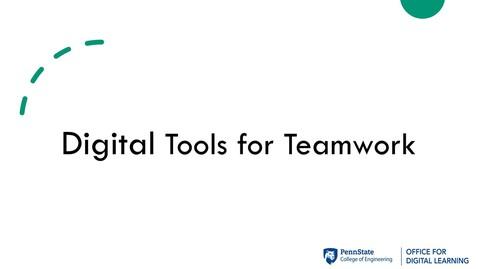 Thumbnail for entry ODL Workshop - Digital Tools for Teamwork