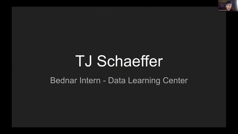 Thumbnail for entry Thomas Schaeffer -- Student Employee Showcase 2021