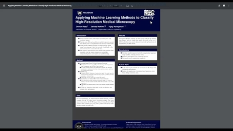 Thumbnail for entry Applying Machine Learning Methods to Classify High-Resolution Medical Microscopy
