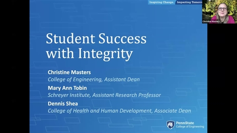 Thumbnail for entry Student Success with Integrity
