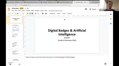Thumbnail for entry Huaibin Zhang - Student Employee Showcase Presentation