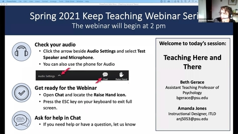 Thumbnail for entry Teaching Here and There: Engaging Students in a Mixed Mode Classroom Using Top Hat