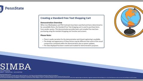 Thumbnail for entry SIMBA Short: Creating a Standard Free Text Shopping Cart