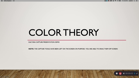 Thumbnail for entry Color Theory:  Lecture sample