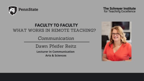 Thumbnail for entry Faculty to Faculty: What Works in Remote Teaching? [Communication]