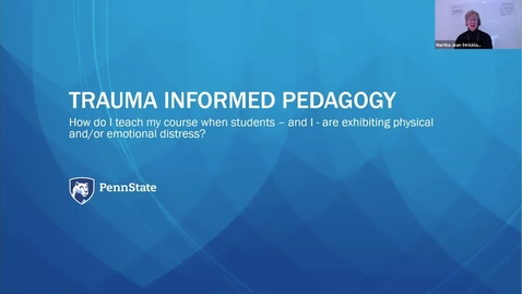Thumbnail for entry Trauma Informed Pedagogy
