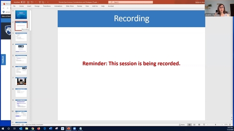 Thumbnail for entry Strategies for Remote Synchronous Instruction: Keep Teaching Webinar Series