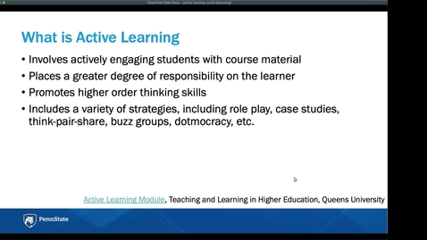 Thumbnail for entry Active Learning in Socially Distanced Classrooms: Keep Teaching Webinar Series