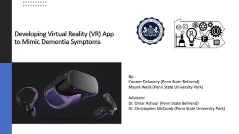 Thumbnail for entry Developing Virtual Reality App To Mimic Dementia Symptoms