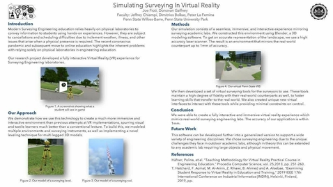 Thumbnail for entry Simulating Surveying In Virtual Reality