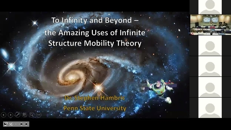 Thumbnail for entry CAV Seminar (1/9/2019) Dr. Steve Hambric -- To Infinity and Beyond: The Amazing Uses of Infinite Structure Theory