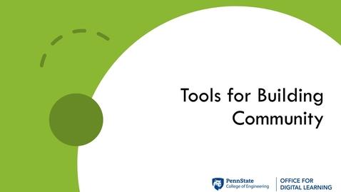 Thumbnail for entry ODL Workshop - Digital Tools for Building Community