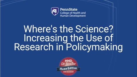 Thumbnail for entry Where's the Science? Increasing the Use of Research in Policymaking