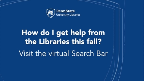 Thumbnail for entry University Libraries Search Bar
