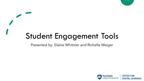 Thumbnail for entry ODL Workshop - Engagement Tools