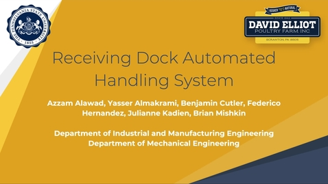 Thumbnail for entry Receiving Dock Automated Handling System - David Elliot Poultry Farm