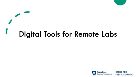 Thumbnail for entry ODL Workshop - Remote Labs