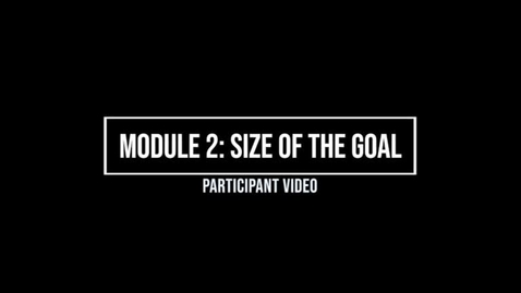 Thumbnail for entry Module 2: Size of Goal - Participant