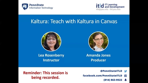 Thumbnail for entry Teaching with Kaltura in Canvas