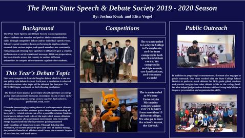Thumbnail for entry Josh Kwak and Elisa Vogel: Penn State Speech and Debate Society